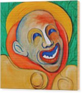 The Laugh Of A Clown Wood Print