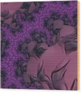The Lavender Forest 2 Wood Print