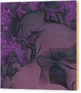 The Lavender Forest 3 Wood Print