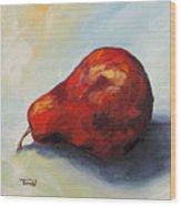 The Lazy Red Pear II Wood Print