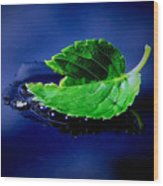 The Leaf Wood Print