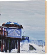 The Leaning Pier Wood Print
