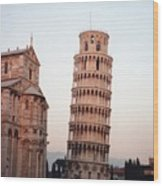 The Leaning Tower Of Pisa Wood Print