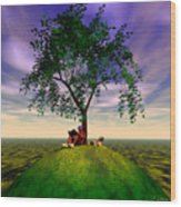 The Learning Tree Wood Print