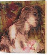 The Left Handed Portrait Wood Print