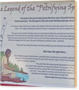 The Legend Of The Petrifying Springs Wood Print