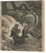 The Leviathan Wood Print