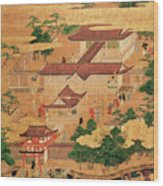 The Life And Pastimes Of The Japanese Court - Tosa School - Edo Period Wood Print