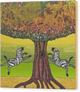 The Life-giving Tree. Wood Print by Jarle Rosseland