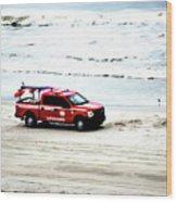 The Lifeguard Truck Wood Print