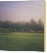 The Lifting Of Morning Fog Wood Print