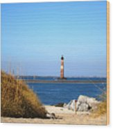 The Lighhouse At Morris Island Charleston Wood Print