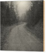 The Light At The End Of The Road Wood Print