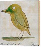 The Light Green Bird Wood Print