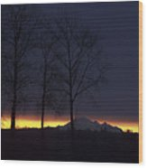 The Light On The Mountain Wood Print