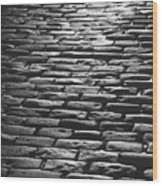 The Light On The Stone Pavement Wood Print