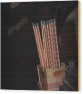 The Light Source Wood Print