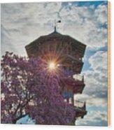 The Light Through The Pagoda Wood Print