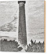 The Lighthouse At Cape May Wood Print