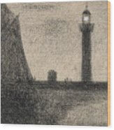 The Lighthouse At Honfleur Wood Print