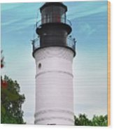 The Lighthouse At Key West Florida Wood Print