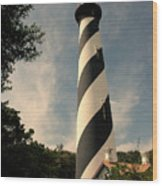 The Lighthouse In St.augustin Fl Wood Print