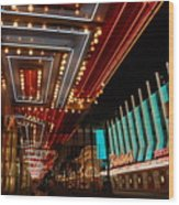 The Lights Are On In Las Vegas Wood Print