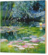 The Lily Pond I Wood Print