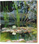 The Lily Pond II Wood Print