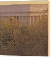 The Lincoln Memorial, Seen Wood Print