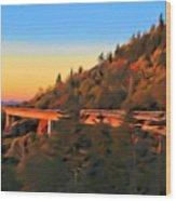 The Linn Cove Viaduct At Sunrise Wood Print