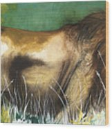 The Lion Wood Print by Anthony Burks Sr