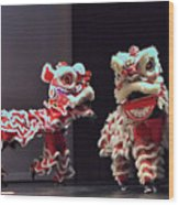 The Lion Dance Camarillo Kung Fu Club Wood Print