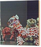 The Lion Dance Camarillo  Wood Print