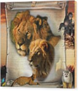 The Lion King From Africa Wood Print
