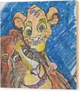 The Lion King Wood Print
