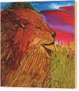 The Lion King Of Massai Mara Wood Print