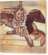 The Lion Of Venice Wood Print