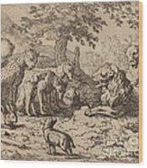 The Lion Seeks Advice Wood Print