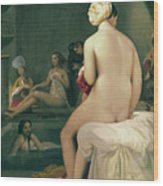 The Little Bather In The Harem Wood Print by Jean Auguste Dominique Ingres