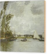 The Little Branch Of The Seine At Argenteuil Wood Print