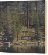 The Little Cabin Wood Print
