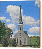 The Little Country Church Wood Print