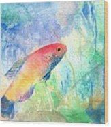 The Little Fish Wood Print