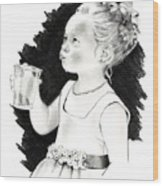 The Little Flower Girl Wood Print