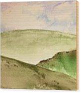 The Little Hills Rejoice Wood Print
