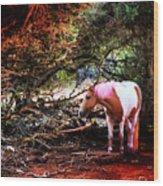 The Little Pink Unicorn By Pedro Cardona Wood Print
