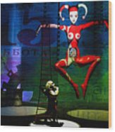 The Little Puppet Master Wood Print