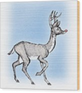 The Little Reindeer  Wood Print