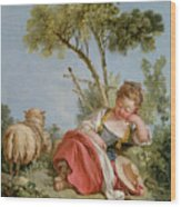 The Little Shepherdess Wood Print